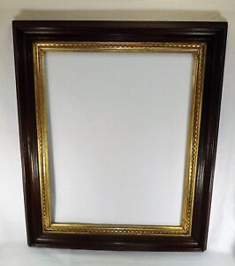 Large Antique 19th C Walnut Lemon Gold Picture Frame Shadow Box 36 X 30 Vgc