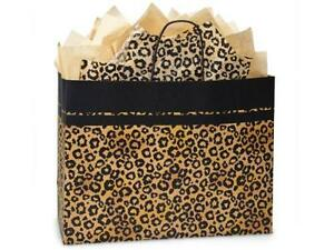 1 Unit Vogue Leopard Safari Paper Bags Recycled 16x6x12 1 2 Unit Pack 25