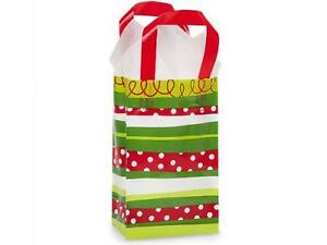 1 Unit Rose Christmas Stripe Plastic Bags Bulk 5 1 4x3 1 4x8 1 2 Unit Pack 250