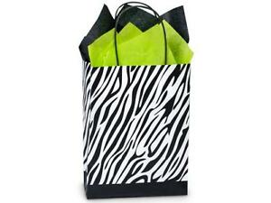 1 Unit Zebra Recycled Paper Bags Mini Pk 8 1 4x4 1 4x10 3 4 Unit Pack 25