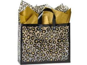 1 Unit Vogue Leopard Safari Plastic Bags Bulk 3 Mil Bags 16x6x12 Unit Pack 250