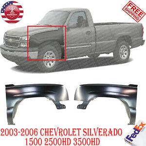 Fender For 2003 2006 Chevrolet Silverado 1500 Set Of 2 Front Left