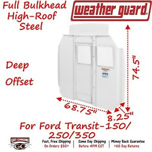 96321 3 01d Weatherguard High Roof Window Bulkhead With Deep Offset Ford Transit