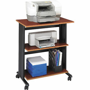 Mayline Safco Muv 3 level Adjustable Printer Stand Cherry black Model 1881cy