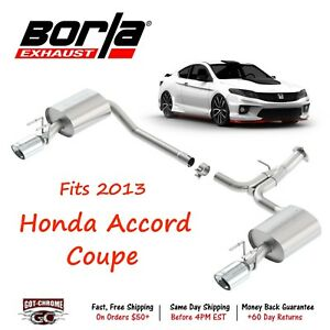 11853 Borla Touring Axle Back System Exhaust System Kit For Honda Accord 2013