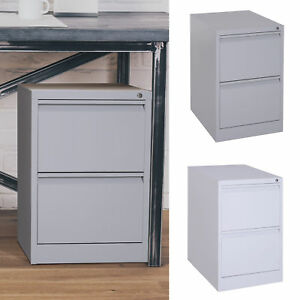 28 Steel Metal 2 Drawer Home Office Under Desk Filing Cabinet With Lock