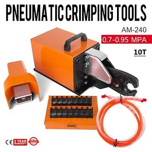 Am 240 Pneumatic Crimping Machine 10t Ce Certification Dual action Cylinder Wire