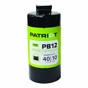 Patriot Pb12 Battery Energizer 0 12 Joule For Electric Fence