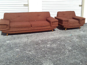 Mid Century 50 S Mod Rocket Danish Modern Couch And Sofa Kroehier Brown Mad Men