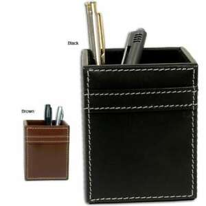 Dacasso 3200 Series Stitched Leather Pencil Cup Desk