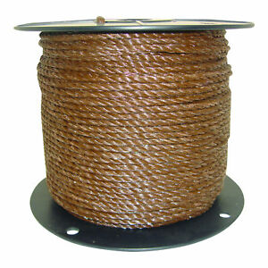 Field Guardian Brown Polyrope 1 4 Electric Fence 631835 814421011947