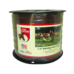 Field Guardian 1 5 Brown Polytape Electric Fence 631553 814421010285