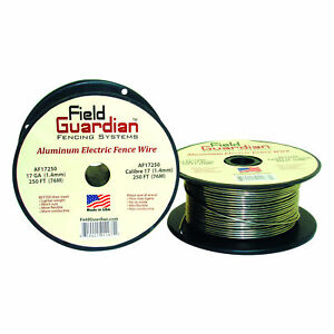 Field Guardian 17ga Aluminum Wire 250 Electric Fence Af17250 814421011671