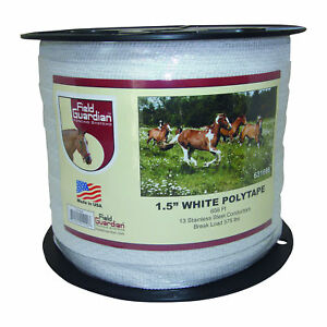 Field Guardian 1 5 White Polytape Electric Fence 631666 814421012203