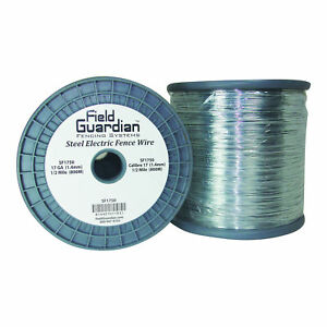 Field Guardian 17 Ga Galvanized Steel Wire 1 2 Mile usa Sf1750 814421011831