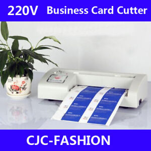 Us 220v Business Card Cutter Automatic Binding Machine Electric Cutter 90 54mm