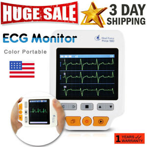 180d Handheld Heal Force Ecg Ekg Heart Monitor 50pcs Electrode Color Portable Us