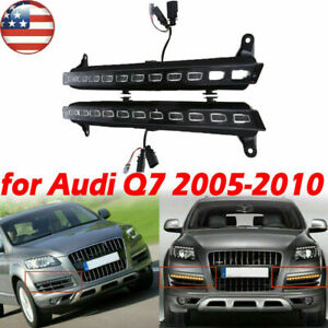 Car Fog Driving Daylight Daytime Running Led Head Lamp White yellow For Audi Q7
