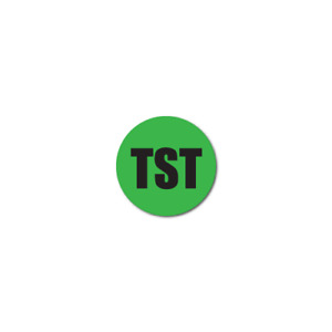 0 25 Inch Circle Quality Control Tst Green Dayglo Labels Roll Of 500
