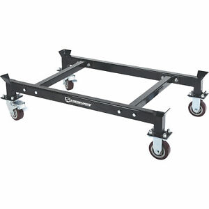 Strongway Heavy duty Drum Rack Dolly Holds 2 Drum Racks 2200 lb Capacity