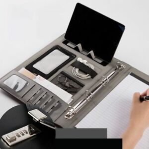 Document File Folder With Lock Business Organizer File Holder Padfolio Briefcase