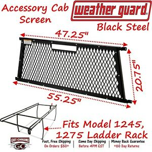 1259 Weather Guard Headache Rack For Full Size Truck Bed Ladder Rack
