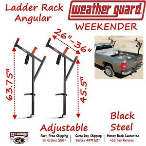1475 Weather Guard Weekender Angular Truck Bed Side Mount Ladder Rack