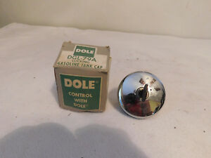 Vintage Locking Chrome Gas Cap Dgl 79a Dole Gasoline Tank