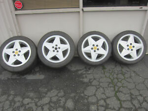 Ferrari 348 Set Of Wheels Rims Front And Rear P n 136531