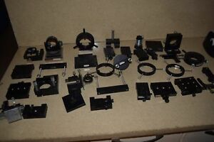 Oriel Stage Mirror Mount Optical Parts Lot Of 33 Pieces br2