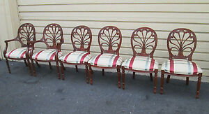 58348 Set Of 6 Anthemion Hickory Chair Dining Chairs 1725 16