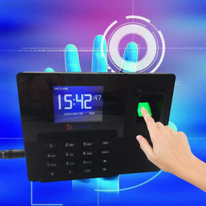 2 8 Biometric Fingerprint Time Attendance Clock Employee Payroll Recorder Color