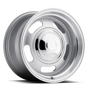 Rev 107 Wheel Classic Rally Silver Finish 17x7 Gm Truck Car Jeep Classic Style