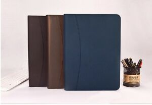 Business Manager Document Bag Leather Folder Organizer Brief Case With Zipper