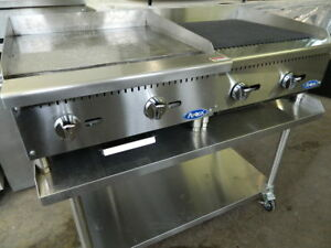 Atosa Atmg 24 Griddle Atrc 24 Charbroiler Nat Gas W Equipment Stand