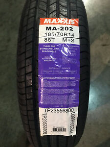 4 New 185 70 14 Maxxis Ma 202 Tires