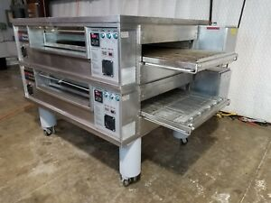 Middleby Marshall Ps570 Gas 32 Wide Conveyor Ovens 70 Long Chamber Doublestack