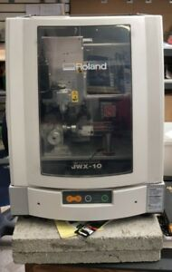 Roland Jwx 10 Desktop Engraver Operating In Used Condition