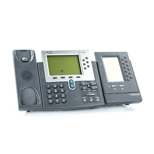 Cisco 7962g Unified Voip Ip Phone Office Business W Expansion Module No Handset