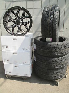 22 Ram 1500 2019 Black Milled New Set Of Wheels And 285 45 22 Tires 5668 Ram