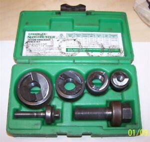 Greenlee 7235bb Slug Buster Knockout Punch Set 1 2 1 1 4