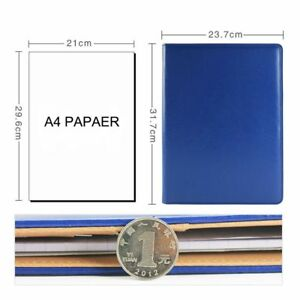 Leather Cover Portfolio Notebook With Lined Pads Calculator Document Pocket Card