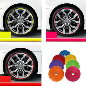 8m 26ft Car Truck Wheel Hub Rim Edge Protector Tire Guard Decor Rubber Strip