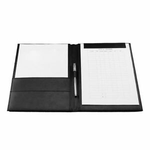 Pu Leather Clip Board File Organizer Folder Magnetic Pad Holder With Pen Loop