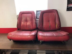 1963 Dodge Dart Plymouth Valiant Red Bucket Seats Pair Original Mopar 119