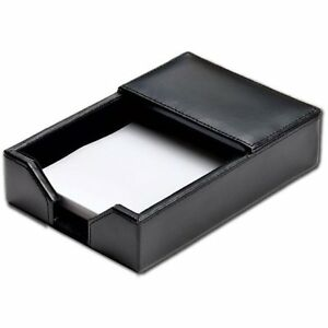 Dacasso Econo line Open front Faux leather Memo Holder 4 Inches X 6 Inches
