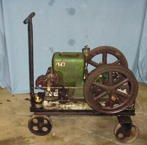 1 1 2 Hp Fuller Johnson Hit Miss Gas Engine With Cart