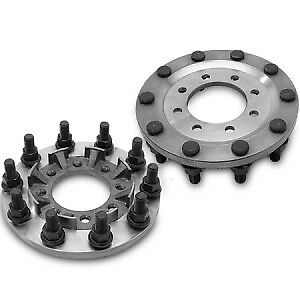 Steel 8 To 10 Lug Dually Wheel Adapters Chevy 3500 Dodge Ram 3500 Ford F350 450