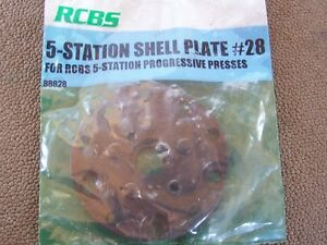 RCBS 5 Station Shell Plate #28 Unused in Package PRO2000 Ammomaster