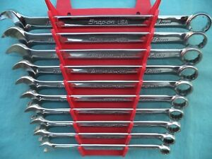 Snap On Flank Drive Plus Combo Wrench Set soexm710 10mm 19mm 10 Pc W rack Mint